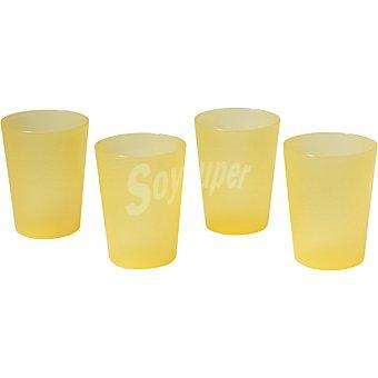 Dombi Set 4 vasos de plástico amarillos