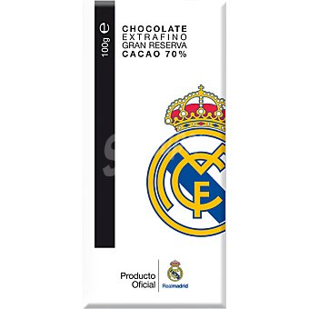 REAL MADRID Chocolate extrafino gran reserva 70% cacao  Tableta 100 g