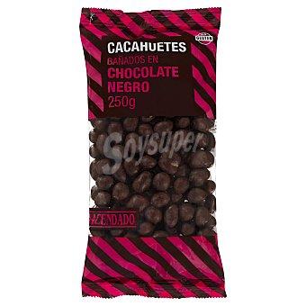Hacendado Bombón cacahuete bañado en chocolate negro Paquete 250g