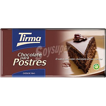 Tirma Postres chocolate puro especial para fundir tableta 150 g Tableta 150 g