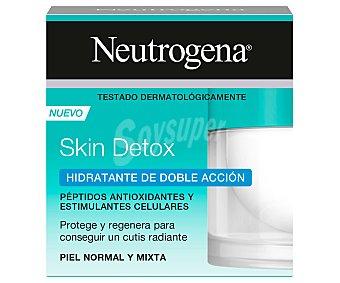 Neutrogena Crema facial hidratante de doble acción, para pieles normales a mixtas skin detox 50 ml