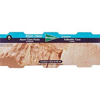 El Corte Inglés Atún claro al natural pack 3 latas 56 g neto escurrido Pack 3 latas 56 g