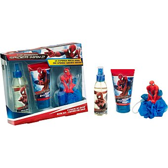 SPIDERMAN eau de toilette infantil + gel & champú + esponja spray 140 ml