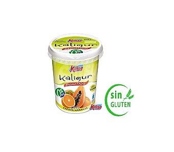 Kalise Kaligur, yogur desnatado 0% de papaya y naranja tarrina 400 g