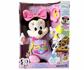 CLEMENTONI BABY Mi Primera Muñeca Minnie, Hecha en Tela, Incluye 3 Accesrios 1 Unidad