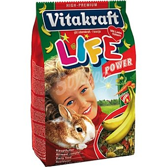 VITAKRAFT LIFE POWER Alimento completo para conejo enano con plátano paquete 600 g Paquete 600 g