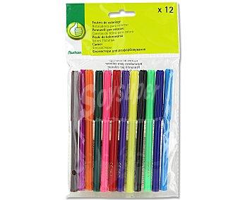 Productos Económicos Alcampo Caja de 12 rotuladores de diferentes colores alcampo