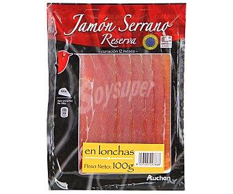 Auchan Jamón serrano, cortado en lonchas 100 gr