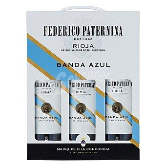 """Federico Paternina Estuche de vino D.O. Ca. """"rioja"""" tinto crianza Banda Azul Pack 3x75 cl"""