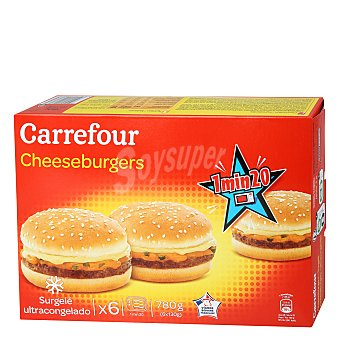 Carrefour Cheeseburguers 780 g