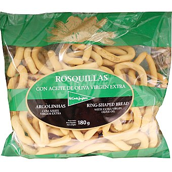 El Corte Inglés Rosquillas de pan con aceite de oliva virgen Bolsa 180 g