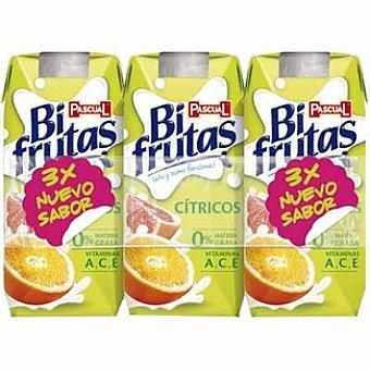 BIFRUTAS de PASCUAL Cítrico zumo de frutas con leche y vitaminas Pack 3 envases 330 ml