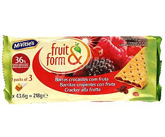 Fruit&form Barritas Frutas del Bosque 218 gramos