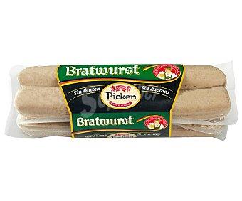 Picken Salchichas alemanas tipo Bratwurst, sin gluten y sin lactosa 340 g