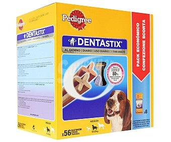 PEDIGREE DENTASTIX Para perros de razas medianas formato ahorro estuche 56 unidades Estuche 56 unidades