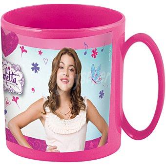 Disney Taza para microondas 36 cl diseño Violetta en color rosa 36 cl