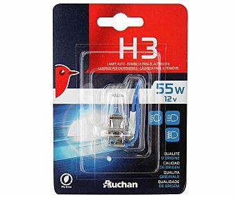 Auchan Bombilla halógena para automóvil, modelo H3, potencia: 55W 1 unidad