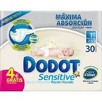 Dodot Kit recién nacido Sensitive Talla 2 (3-6kg) pack 30 unid.