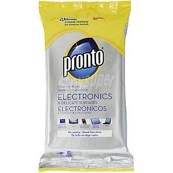 Pronto toallitas limpia muebles electrónicos y superficies delicadas envase 50 unidades