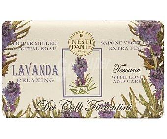 Nesti dante Pastilla de jabón relajante con ingredientes activos y extracto de lavanda de la Toscana 250 g