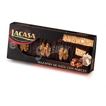 Lacasa Turrón mazapán de nata con nuceces y chocolate Estuche 200 gr