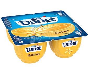 Danet Danone Natillas de vainilla 4 unidades de 125 g