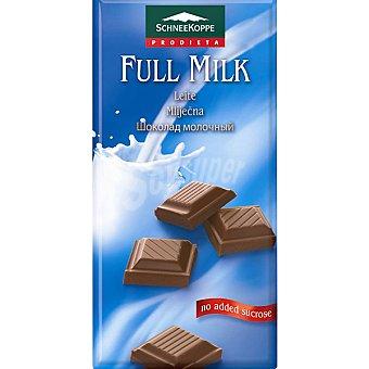 SCHNEEKOPPE chocolate con leche sin azúcares añadidos envase 100 g