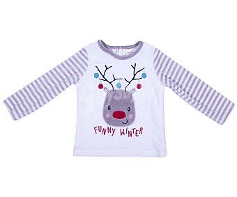 In Extenso Pijama de bebe de terciopelo y manga larga, color crudo, talla 74