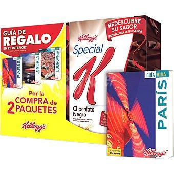 KELLOGG'S SPECIAL K cereales de desayuno con chocolate negro con regalo de una guía de viaje pack 2 unidades 300 g