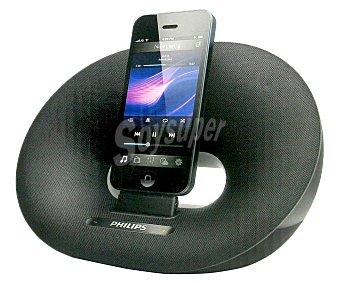 PHILIPS DS3205 Altavoz Base Para ipod/iphone con sonido Estéreo 10W rms, entrada de audio externa 3,5(mm) y posibilidad de alimentación por corriente o pilas