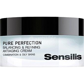 Sensilis PURE PERFECTION crema facial antiedad equilibrante refinadora para pieles mixtas y grasas tarro 50 ml