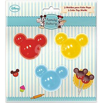 DISNEY Family Bakery Moldes para cake pops Mickey set 3 unidades 3 unidades