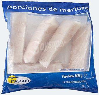 Mascato Merluza congelada porciones del cabo Paquete 500 g