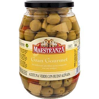 Maestranza Aceitunas verdes manzanilla con hueso aliñadas barril 600 g neto escurrido 600 g neto escurrido