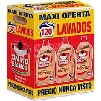 Omino Bianco Detergente líquido Marsella Pack 3