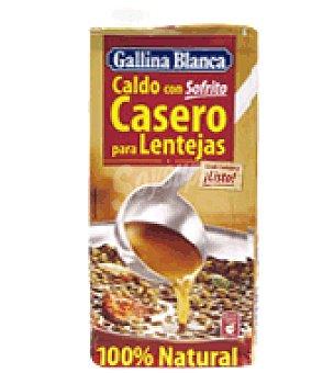 Gallina Blanca Caldo con sofrito casero para lentejas 100% Natural 1 l