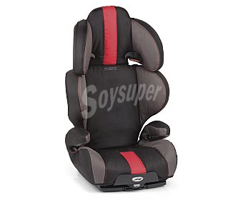INDY PLUS TEAM Elevador para grupo 2-3, isofix, color gris y rojo 2-3