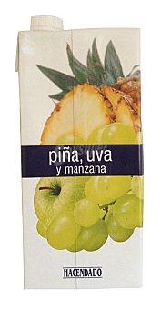 Hacendado Zumo piña uva y manzana Brick 1 l