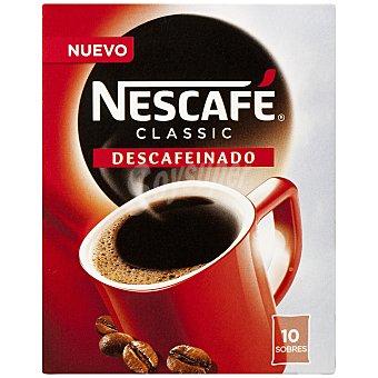 Nescafé Café soluble descafeinado Classic estuche 10 sobres 20 g