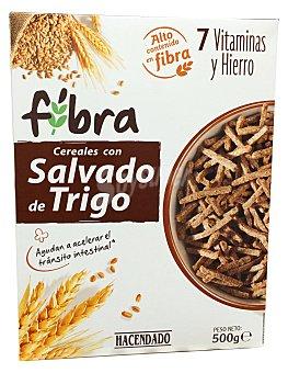 HACENDADO Cereal palitos salvado trigo y fibra  Caja de 500 g