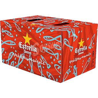 Estrella Damm Cerveza rubia nacional pack 5+1 latas 33 cl Pack 5+1 latas 33 cl