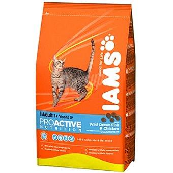 IAMS PROACTIVE NUTRITION ADULT Alimento completo para gato adulto con pescado azul y pollo Bolsa 3 kg