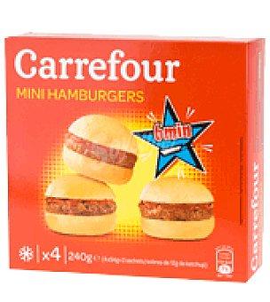 carrefour mini hamburguesas 4 ud 240 gr c mpralo en soysuper. Black Bedroom Furniture Sets. Home Design Ideas