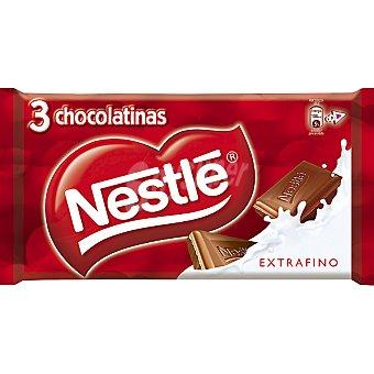 Extrafino Nestlé Chocolatinas con leche estuche 60 g Pack 3x20 g