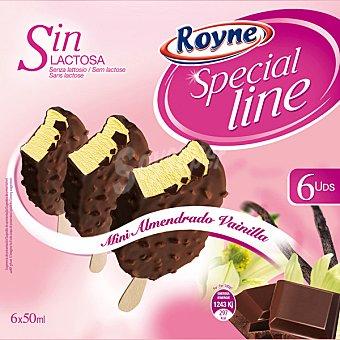 ROYNE Mini bombón almendrado de vainilla sin lactosa Special Line 6 unidades de 50 ml