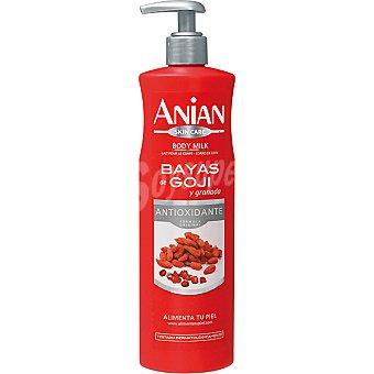 Anian Loción corporal bayas de Goji y granada antioxidante Dosificador 400 ml