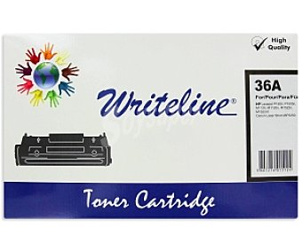WRITELINE Tóner compatible 36A, Negro, aprox. 2000 paginas, compatible con impresoras HP: laserjet P1505, P1505n, M1120, M1120n, M1522n, M1522nf Canon Laser Shot LBP3250