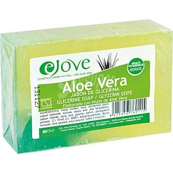 EJOVE Jabón de glicerina 100% aloe vera Pastilla 125 g