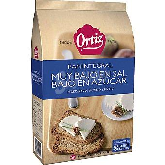 Ortiz pan tostado integral muy bajo en sal y bajo en azúcar 30 rebanadas Paquete 270 g