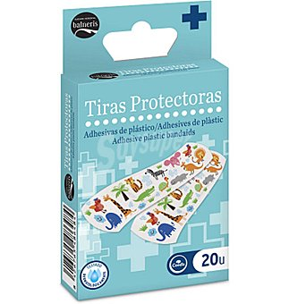 Balneris Tiras protectoras adhesivas de plastico 20 UNI